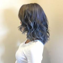 春 ミディアム 透明感 夏 ヘアスタイルや髪型の写真・画像