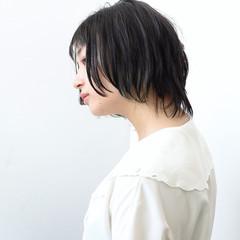 抜け感 透明感 グレージュ ショート ヘアスタイルや髪型の写真・画像