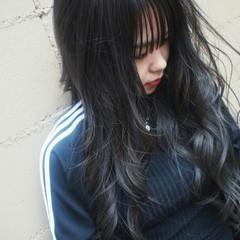 ハイライト 暗髪 アッシュグレー ストリート ヘアスタイルや髪型の写真・画像