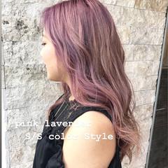 ピンクブラウン ピンク ピンクベージュ ベリーピンク ヘアスタイルや髪型の写真・画像