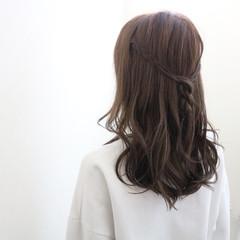 ショート 編み込み 外国人風 ロング ヘアスタイルや髪型の写真・画像