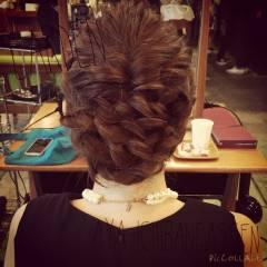 ナチュラル 大人かわいい 三つ編み 結婚式 ヘアスタイルや髪型の写真・画像