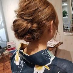 夏 ミディアム 大人かわいい フェミニン ヘアスタイルや髪型の写真・画像
