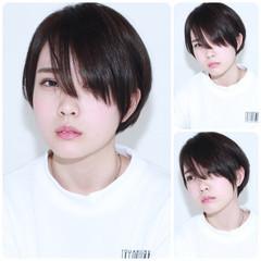 暗髪 イルミナカラー グレージュ アッシュ ヘアスタイルや髪型の写真・画像