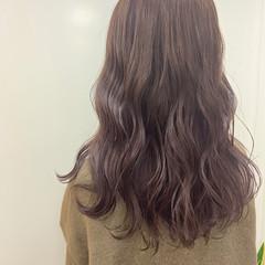 極細ハイライト ナチュラル 3Dハイライト ピンクベージュ ヘアスタイルや髪型の写真・画像
