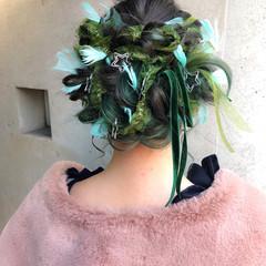 成人式 ガーリー 結婚式 ヘアアレンジ ヘアスタイルや髪型の写真・画像