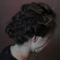 編み込み ボブ ヘアアレンジ 三つ編み ヘアスタイルや髪型の写真・画像