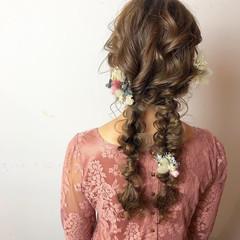 ヘアアレンジ ゆるふわ フェミニン 成人式 ヘアスタイルや髪型の写真・画像