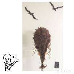三つ編み 編み込み ロング ヘアアレンジ ヘアスタイルや髪型の写真・画像
