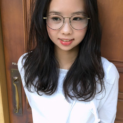 大人かわいい 前髪あり 外国人風 セミロング ヘアスタイルや髪型の写真・画像