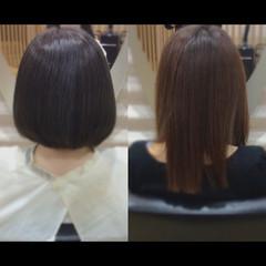 ミディアム 髪質改善カラー ナチュラル 艶髪 ヘアスタイルや髪型の写真・画像