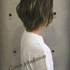 色気 渋谷系 グラデーションカラー ショート ヘアスタイルや髪型の写真・画像