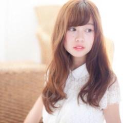 ガーリー ゆるふわ フェミニン ロング ヘアスタイルや髪型の写真・画像
