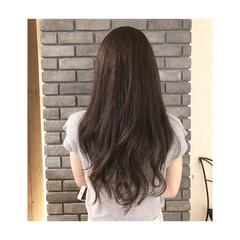 ゆるふわ アッシュ 暗髪 コンサバ ヘアスタイルや髪型の写真・画像