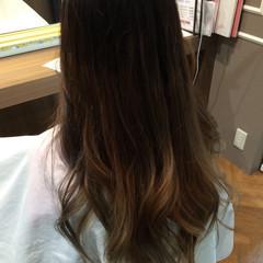 グラデーションカラー ロング ハイライト ガーリー ヘアスタイルや髪型の写真・画像