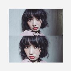 暗髪 大人女子 外国人風 こなれ感 ヘアスタイルや髪型の写真・画像
