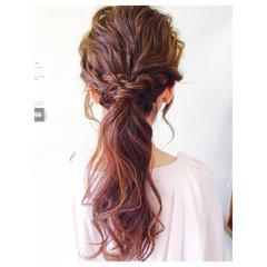 ゆるふわ ヘアアレンジ ロング ハーフアップ ヘアスタイルや髪型の写真・画像