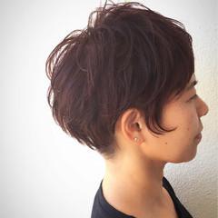 ストリート ショート ベリーピンク 坊主 ヘアスタイルや髪型の写真・画像