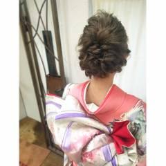 編み込み ヘアアレンジ 夏 ヘアスタイルや髪型の写真・画像