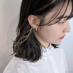 ハイライト イルミナカラー インナーカラー 大人かわいい ヘアスタイルや髪型の写真・画像
