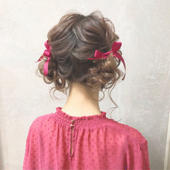 ロング 女子力 ガーリー 簡単ヘアアレンジ ヘアスタイルや髪型の写真・画像