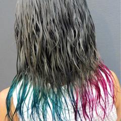 カラートリートメント 外国人風 アッシュ ストリート ヘアスタイルや髪型の写真・画像