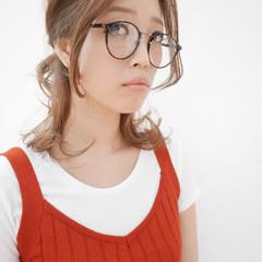 大人女子 ミディアム グラデーションカラー ハイライト ヘアスタイルや髪型の写真・画像