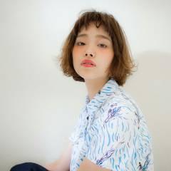 パーマ モテ髪 外国人風 ナチュラル ヘアスタイルや髪型の写真・画像