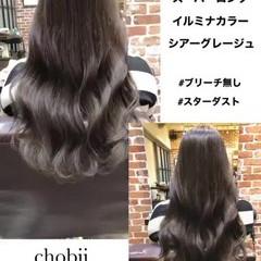 デジタルパーマ ナチュラル 小顔ヘア イルミナカラー ヘアスタイルや髪型の写真・画像