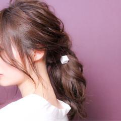 ミディアム デート クリスマス ヘアアレンジ ヘアスタイルや髪型の写真・画像