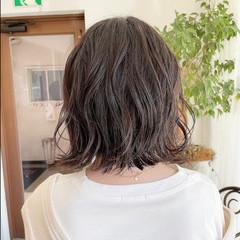 ナチュラル インナーカラー 大人可愛い ボブアレンジ ヘアスタイルや髪型の写真・画像