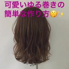 巻き髪 ナチュラル デート 簡単ヘアアレンジ ヘアスタイルや髪型の写真・画像