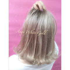 金髪 ボブ 切りっぱなし ハイトーン ヘアスタイルや髪型の写真・画像