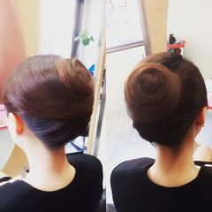 着物 ロング 和装 アップスタイル ヘアスタイルや髪型の写真・画像