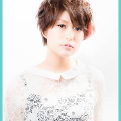 ショート フェミニン モテ髪 ナチュラル ヘアスタイルや髪型の写真・画像