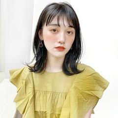 レイヤーカット レイヤースタイル 鎖骨ミディアム ミディアム ヘアスタイルや髪型の写真・画像