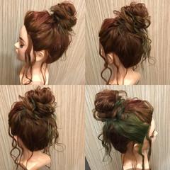 簡単ヘアアレンジ ヘアアレンジ デート セミロング ヘアスタイルや髪型の写真・画像