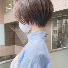 マッシュショート ナチュラル ひし形シルエット ベリーショート ヘアスタイルや髪型の写真・画像