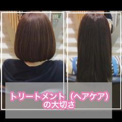 大人ロング ナチュラル 髪質改善カラー 髪質改善トリートメント ヘアスタイルや髪型の写真・画像