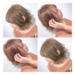 ショートヘア ボブ 切りっぱなしボブ ショートボブ ヘアスタイルや髪型の写真・画像