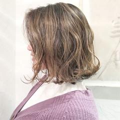 フェミニン アンニュイほつれヘア デート ボブ ヘアスタイルや髪型の写真・画像