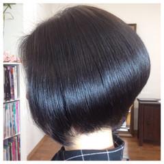 暗髪 大人かわいい ボブ グラデーションカラー ヘアスタイルや髪型の写真・画像