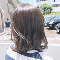 女子力 オリーブアッシュ 秋 ミディアム ヘアスタイルや髪型の写真・画像