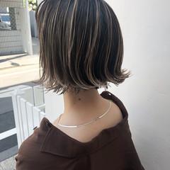 ハイライト パーマ 外国人風カラー グレージュ ヘアスタイルや髪型の写真・画像