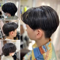 韓国風ヘアー メンズショート ツーブロック 韓国ヘア ヘアスタイルや髪型の写真・画像