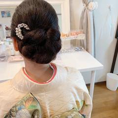 結婚式 シニヨン ヘアアレンジ エレガント ヘアスタイルや髪型の写真・画像
