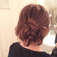 編み込み ヘアアレンジ ロング 甘め ヘアスタイルや髪型の写真・画像