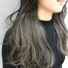 ナチュラル グレージュ ベージュ ロング ヘアスタイルや髪型の写真・画像