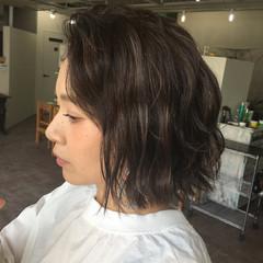モード ボブ 外国人風 グレージュ ヘアスタイルや髪型の写真・画像
