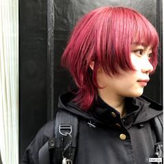 ミニボブ ストリート ブリーチカラー ショートボブ ヘアスタイルや髪型の写真・画像